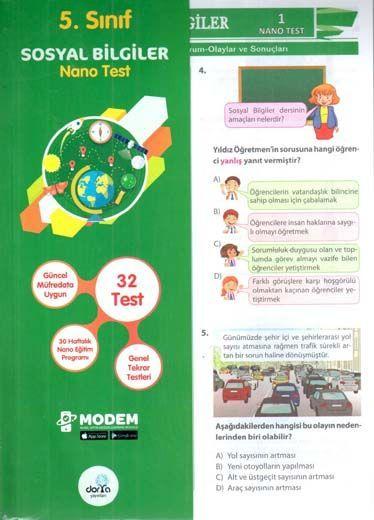 Dorya Yayınları 5. Sınıf Sosyal Bilgiler Nano Test