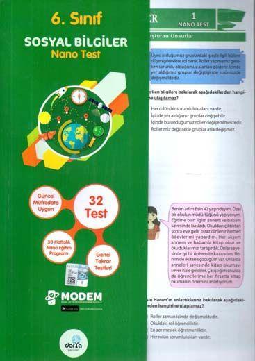 Dorya Yayınları 6. Sınıf Sosyal Bilgiler Nano Test