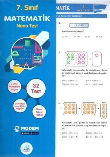 Dorya Yayınları 7. Sınıf Matematik Nano Test
