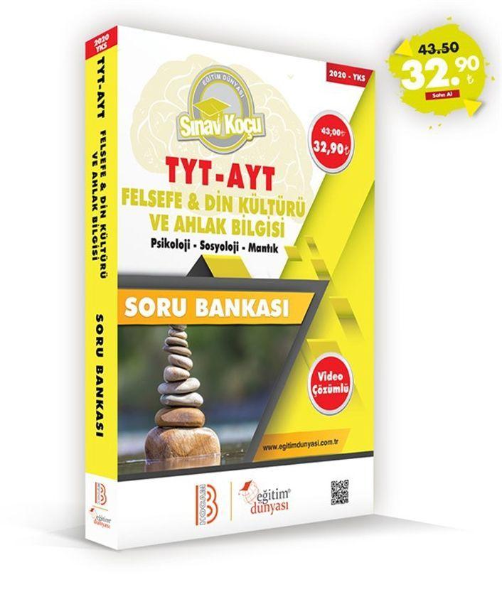 Eğitim Dünyası Yayınları TYT AYT Felsefe Din Kültürü ve Ahlak Bilgisi Sınav Koçu Soru Bankası