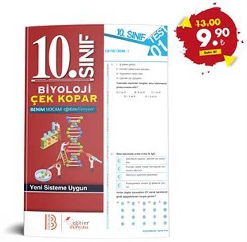 Eğitim Dünyası Yayınları 10. Sınıf Biyoloji Çek Kopar Yaprak Test