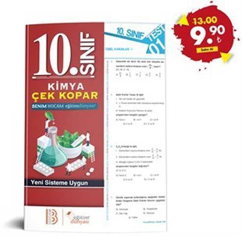 Eğitim Dünyası Yayınları 10. Sınıf Kimya Çek Kopar Yaprak Test