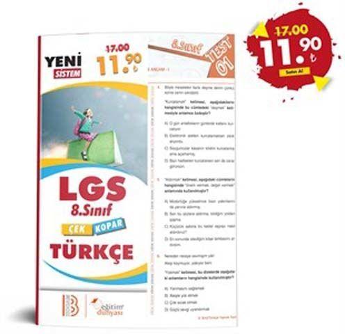 Eğitim Dünyası Yayınları 8. Sınıf LGS Türkçe Çek Kopar Yaprak Test