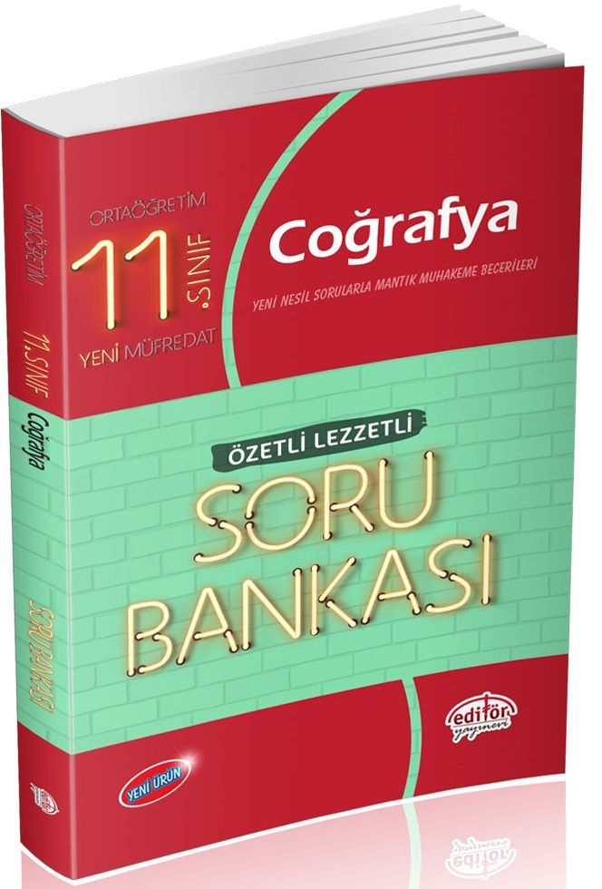 Editör Yayınları 11. Sınıf Coğrafya Özetli Lezzetli Soru Bankası