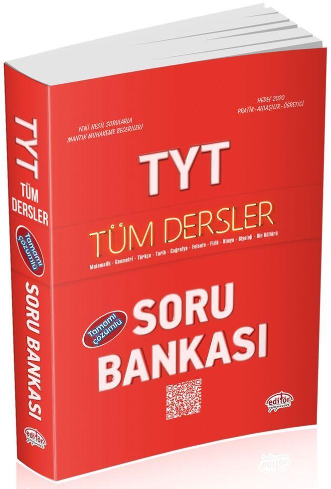 Editör Yayınları TYT Tüm Dersler Çözümlü Soru Bankası