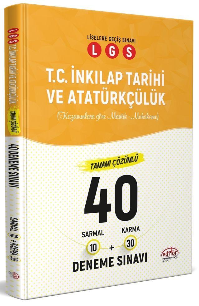 Editör Yayınları LGS T.C. İnkılap Tarihi ve Atatürkçülük 40 Deneme Sınavı