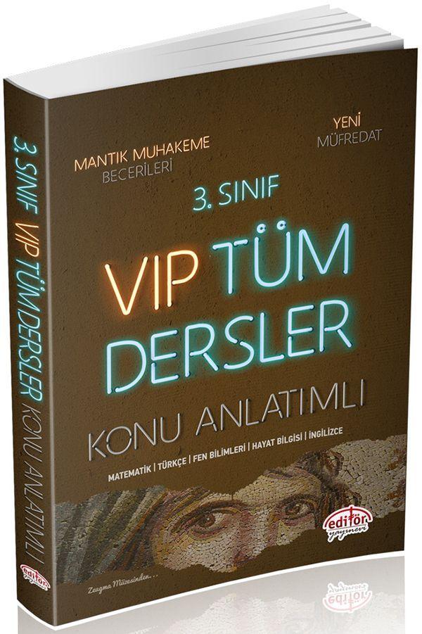 Editör Yayınları 3. Sınıf VIP Tüm Dersler Konu Anlatımlı