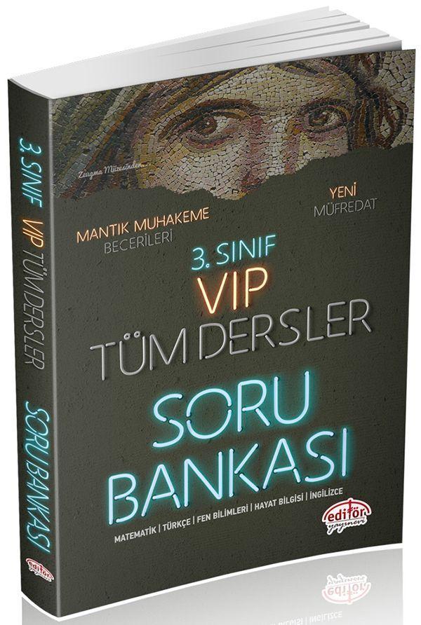 Editör Yayınları 3. Sınıf VIP Tüm Dersler Soru Bankası