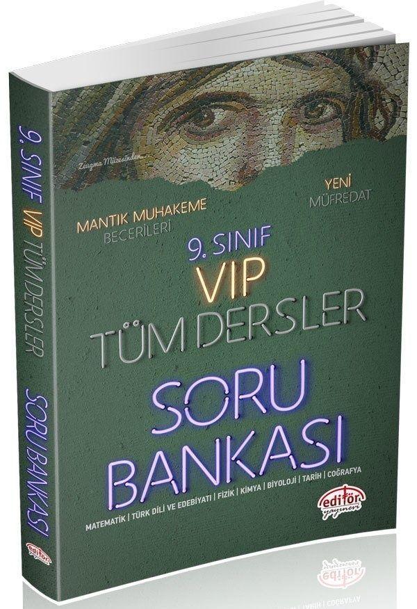Editör Yayınları 9. Sınıf VİP Tüm Dersler Soru Bankası