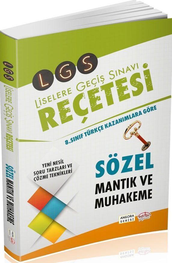 Editör Yayınları LGS Reçetesi Sözel Mantık ve Muhakeme