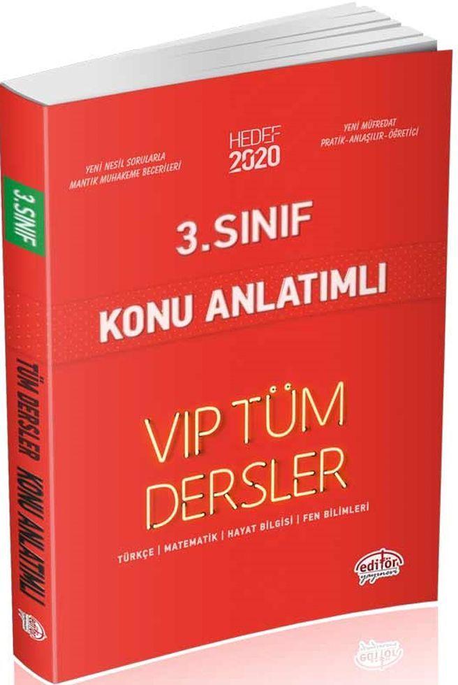Editör Yayınları 3. Sınıf Tüm Dersler VIP Konu Anlatımlı Kırmızı Kitap