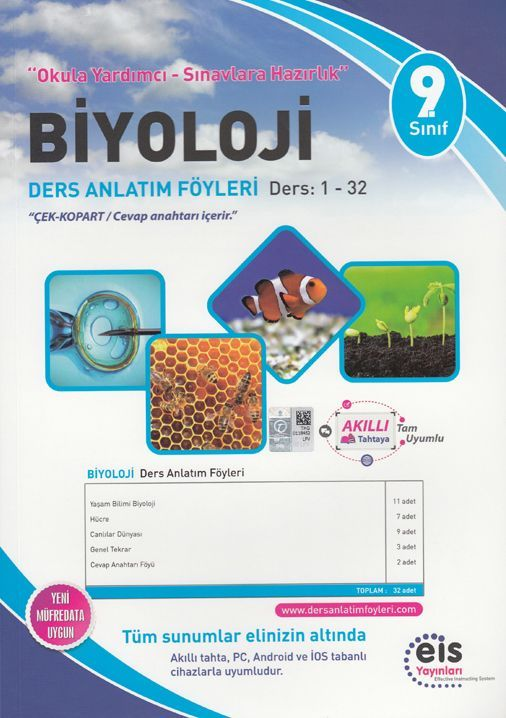 Eis Yayınları 9. Sınıf Biyoloji DAF Ders Anlatım Föyleri 1-32