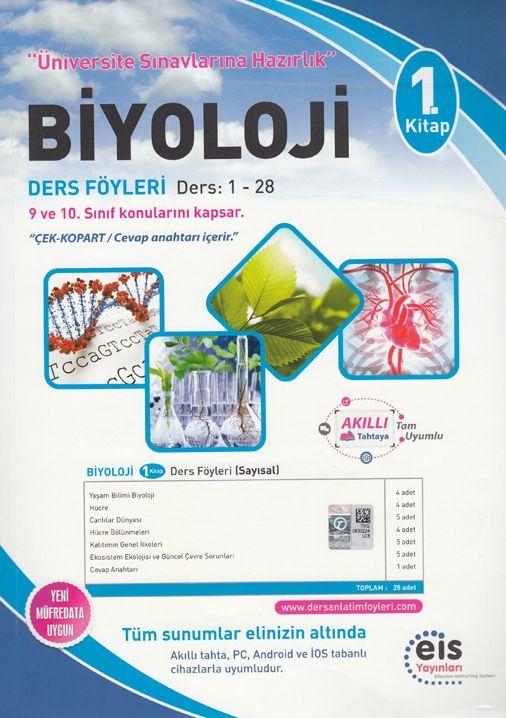 Eis Yayınları Biyoloji DAF Ders Anlatım Föyleri Üniversite Sınavlarına Hazırlık 1. Kitap 1-28