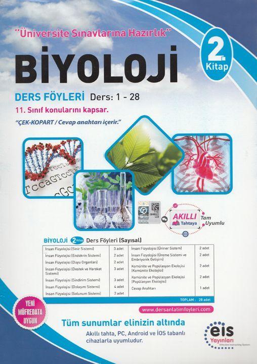 Eis Yayınları Biyoloji DAF Ders Anlatım Föyleri Üniversite Sınavlarına Hazırlık 2. Kitap 1-28