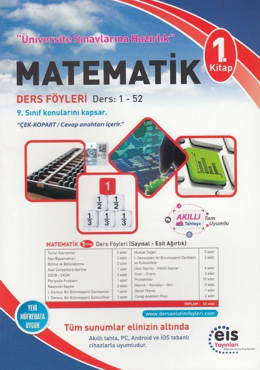Eis Yayınları Matematik DAF Ders Anlatım Föyleri Üniversite Sınavlarına Hazırlık 1. Kitap 1-52