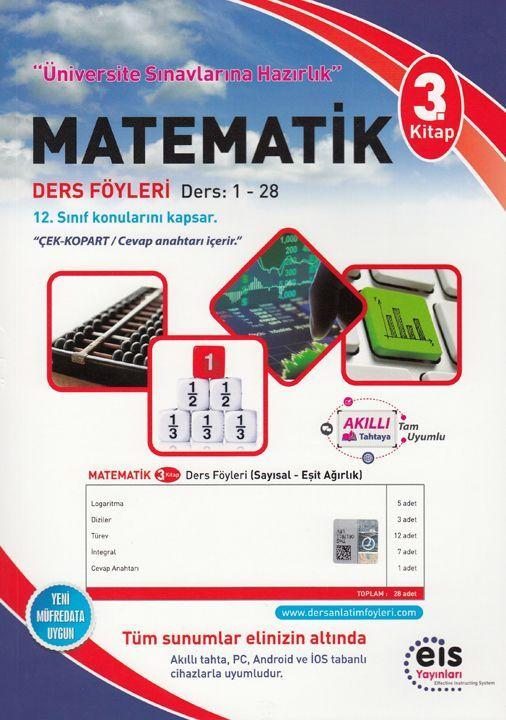 Eis Yayınları Matematik DAF Ders Anlatım Föyleri Üniversite Sınavlarına Hazırlık 3. Kitap 1-28