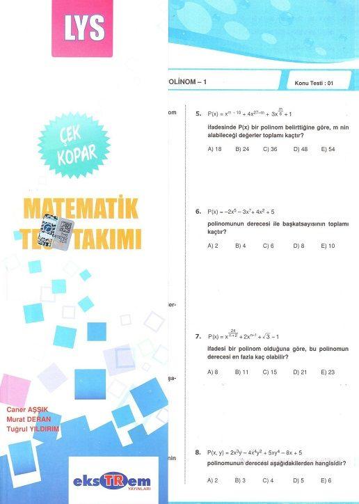 Ekstrem LYS Matematik Test Takımı