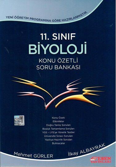 Esen Yayınları 11. Sınıf Biyoloji Konu Özetli Soru Bankası