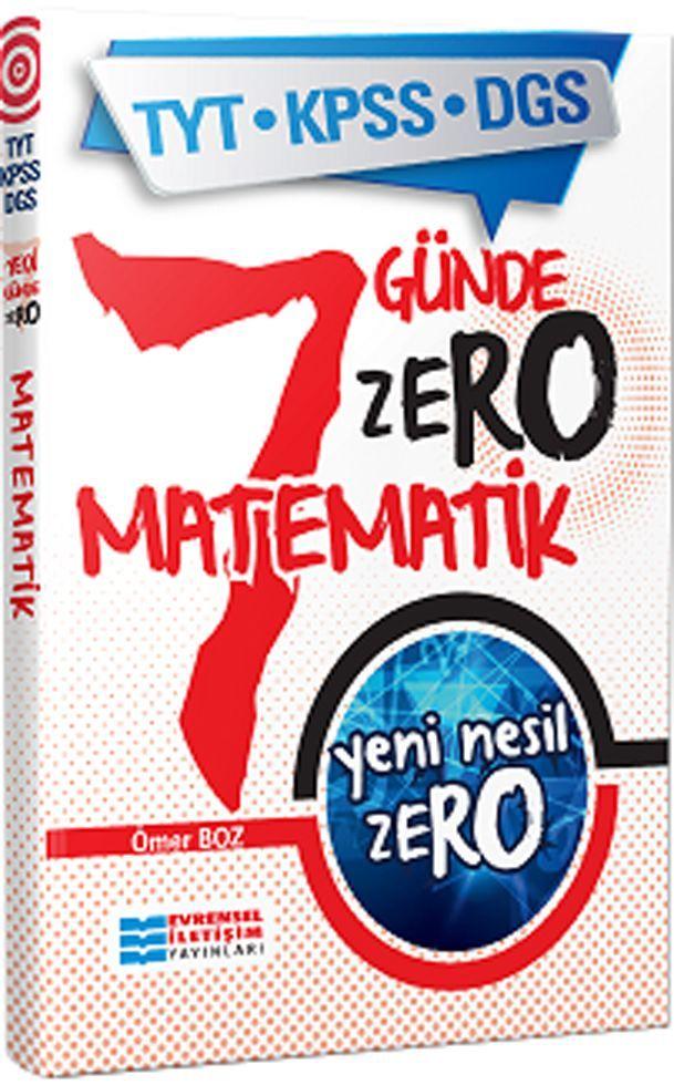 Evrensel İletişim Yayınları TYT KPSS DGS Yedi Günde Zero Matematik