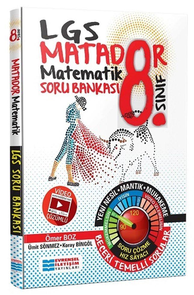 Evrensel İletişim Yayınları 8. Sınıf LGS Matematik Matador Video Çözümlü Soru Bankası