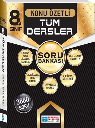 Evrensel İletişim Yayınları 8. Sınıf Tüm Dersler Konu Özetli Soru Bankası