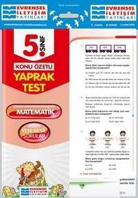 Evrensel İletişim Yayınları 5. Sınıf Matematik Konu Özetli Yaprak Test