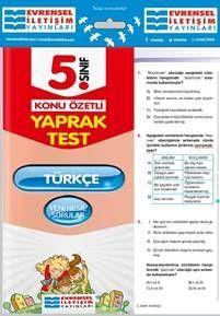 Evrensel İletişim Yayınları 5. Sınıf Türkçe Konu Özetli Yaprak Test