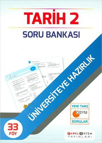 Farklı Sistem Yayınları Üniversiteye Hazırlık Tarih 2 Soru Bankası