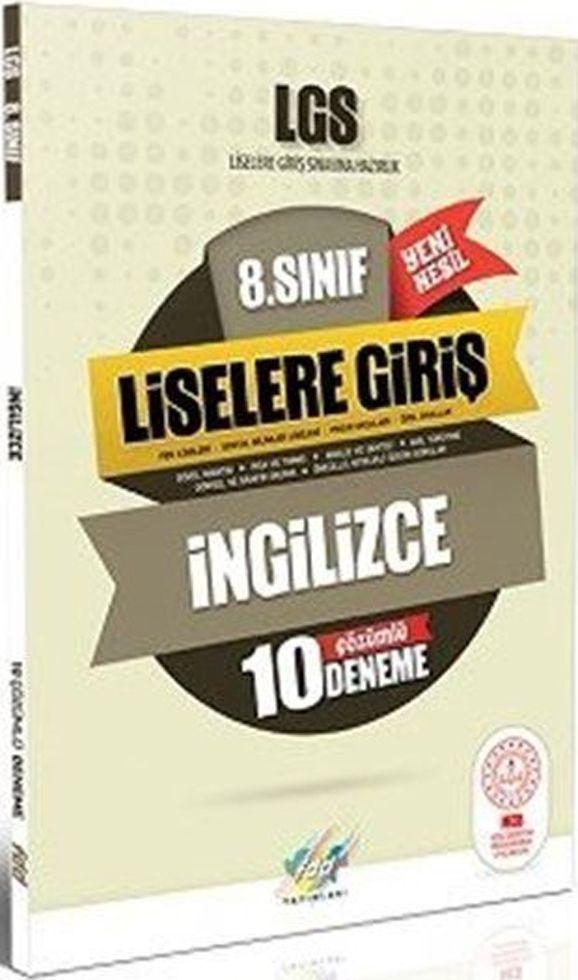 FDD Yayınları 8. Sınıf LGS İngilizce 10 Deneme
