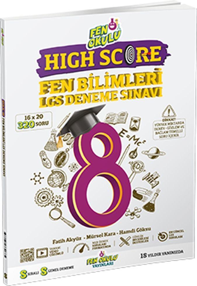 Fen Okulu Yayınları 8. Sınıf LGS Fen Bilimleri High Score Deneme Sınavı
