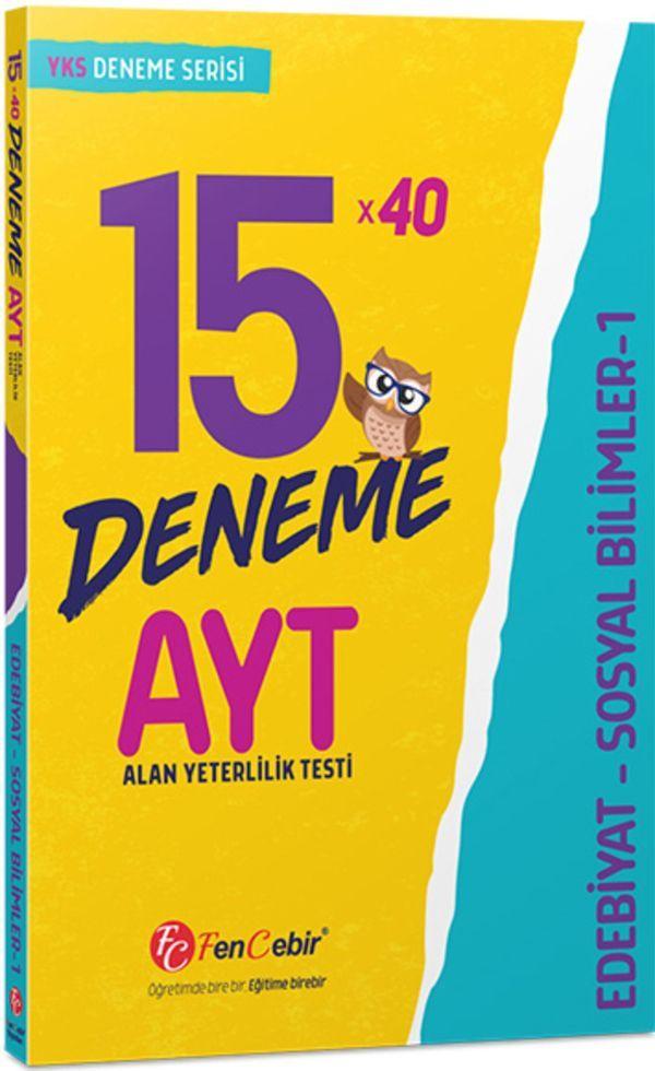 FenCebir Yayınları AYT Edebiyat Sosyal Bilimler 1 15x40 Deneme