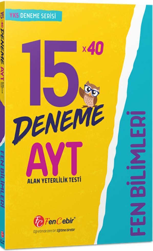 FenCebir Yayınları AYT Fen Bilimleri 15x40 Deneme