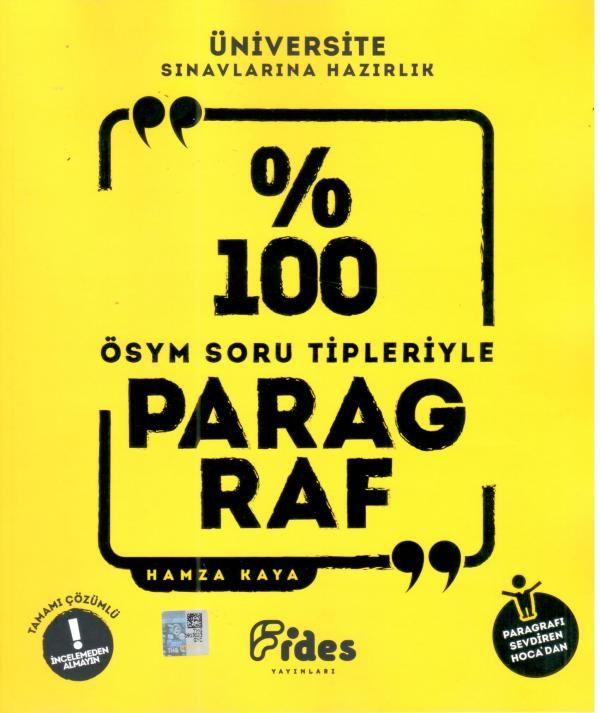 Fides Yayınları % 100 ÖSYM Soru Tipleriyle Paragraf