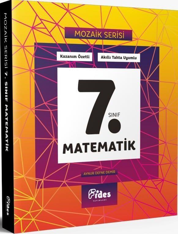Fides Yayınları 7. Sınıf Matematik Mozaik Serisi Kazanım Özetli Soru Bankası