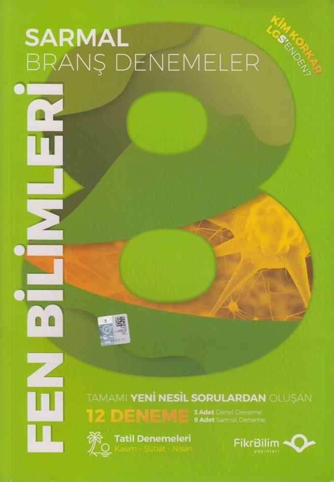 FikriBilim Yayınları 8. Sınıf LGS Fen Bilimleri 12 li Sarmal Branş Denemeler