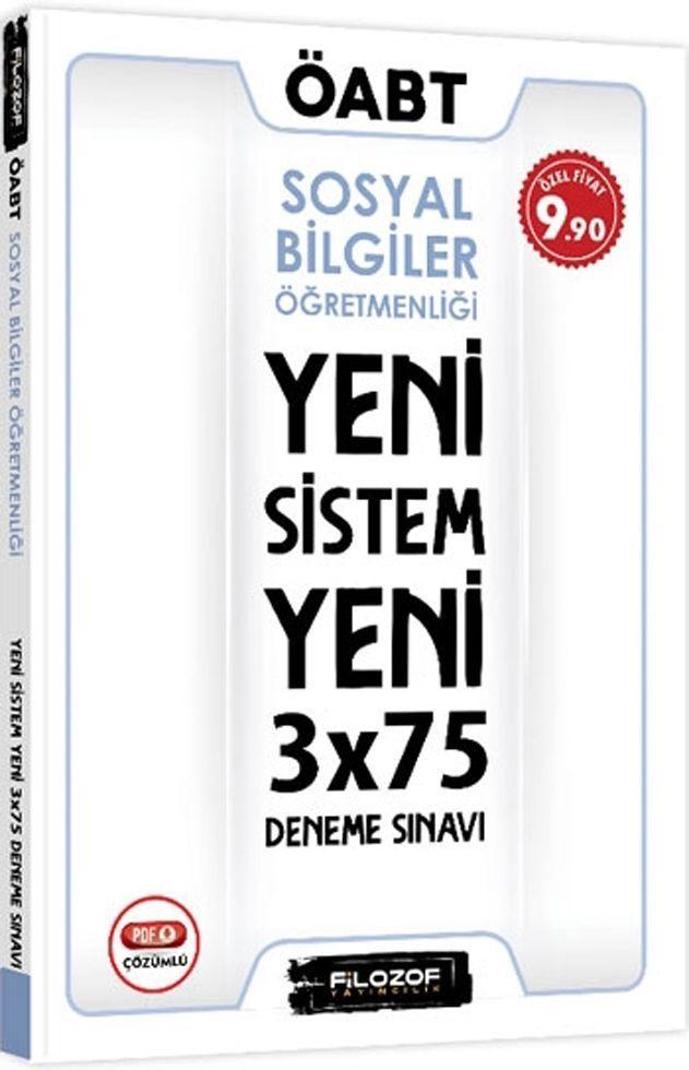 Filozof Yayıncılık ÖABT Sosyal Bilgiler Öğretmenliği Yeni Sistem 3x75 Deneme Sınavı