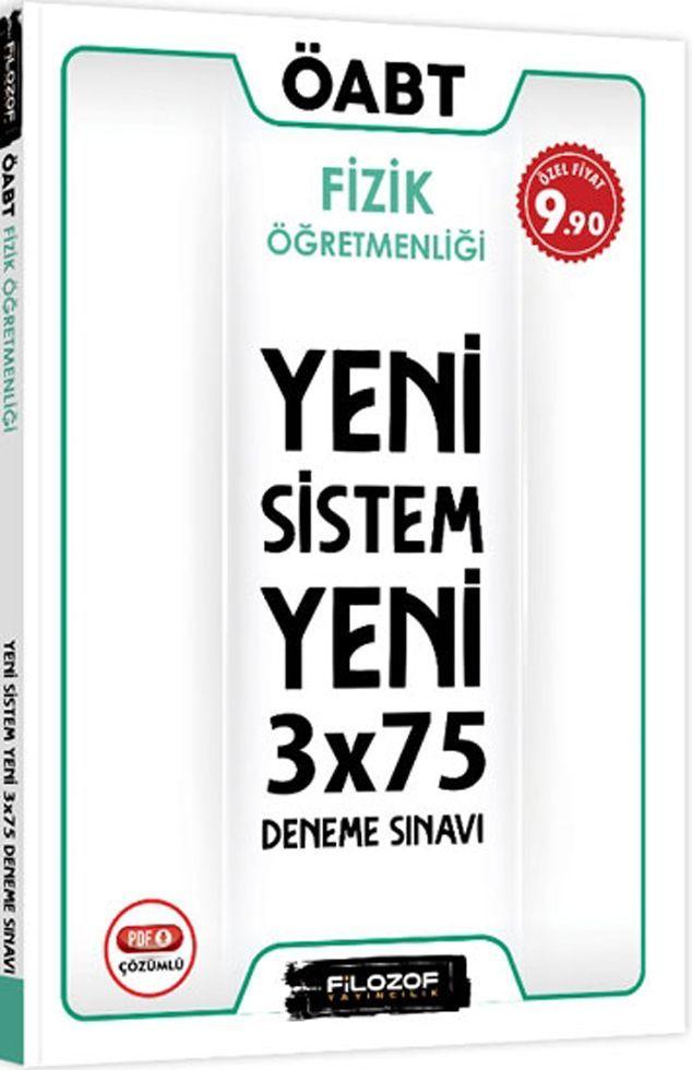 Filozof Yayıncılık ÖABT Fizik Öğretmenliği Yeni Sistem 3x75 Deneme Sınavı