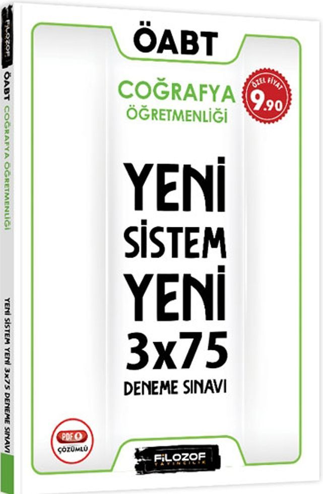 Filozof Yayıncılık ÖABT Coğrafya Öğretmenliği Yeni Sistem 3x75 Deneme Sınavı