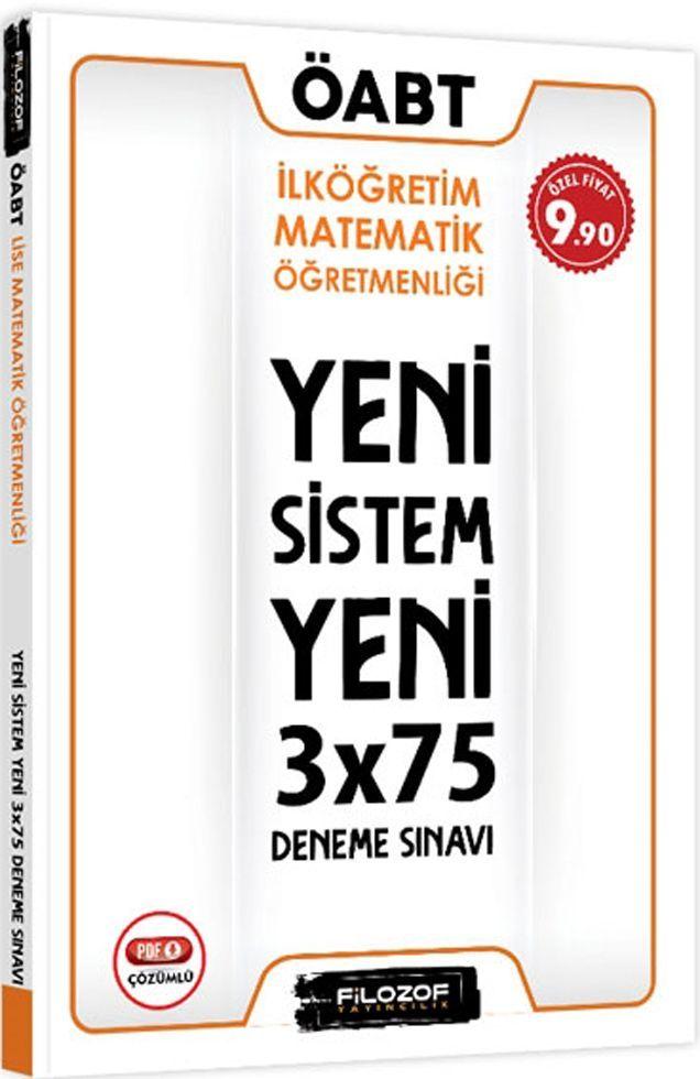 Filozof Yayıncılık ÖABT İlköğretim Matematik Öğretmenliği Yeni Sistem 3x75 Deneme Sınavı