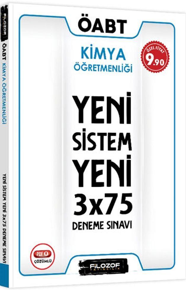 Filozof Yayıncılık ÖABT Kimya Öğretmenliği Yeni Sistem 3x75 Deneme Sınavı