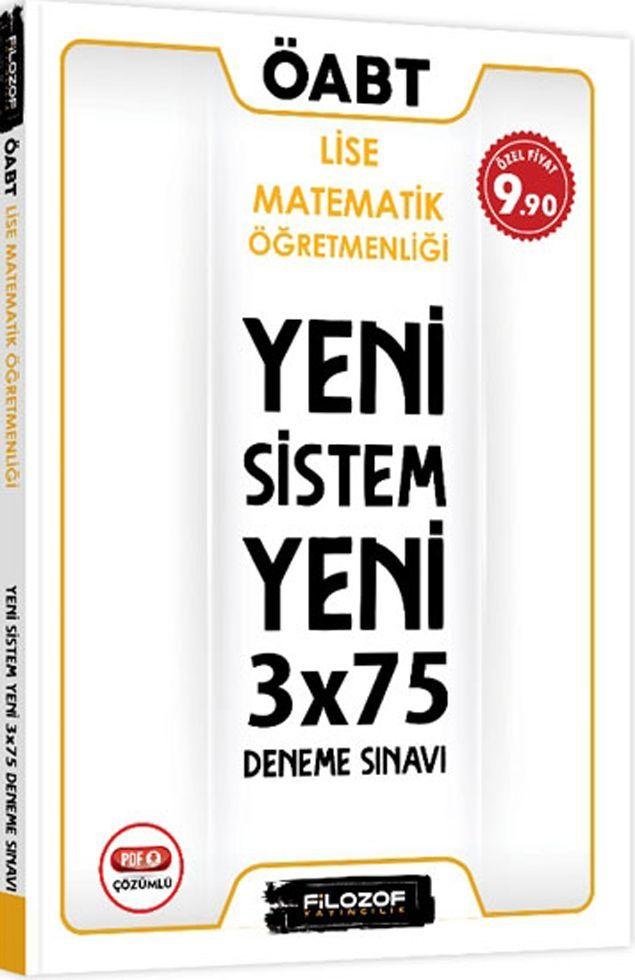 Filozof Yayıncılık ÖABT Lise Matematik Öğretmenliği Yeni Sistem 3x75 Deneme Sınavı