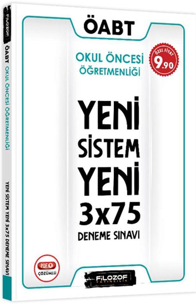 Filozof Yayıncılık ÖABT Okul Öncesi Öğretmenliği Yeni Sistem 3x75 Deneme Sınavı