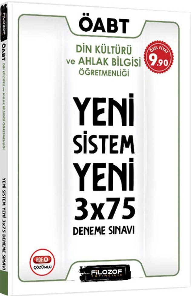 Filozof Yayıncılık ÖABT Din Kültürü ve Ahlak Bilgisi Öğretmenliği Yeni Sistem 3x75 Deneme Sınavı