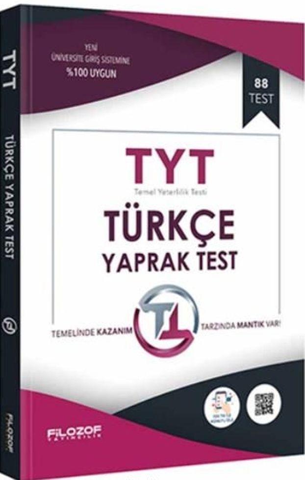 Filozof Yayıncılık TYT Türkçe Yaprak Test