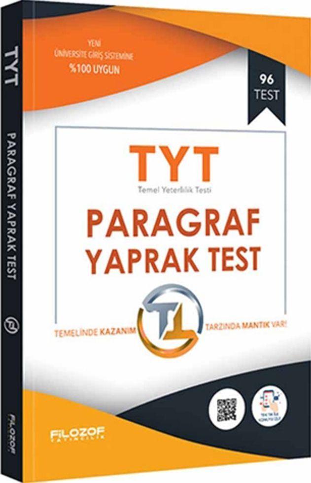 Filozof Yayıncılık TYT Paragraf Yaprak Test