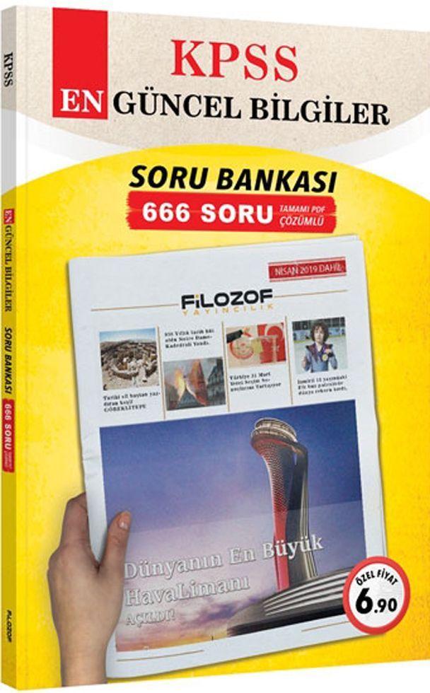 Filozof Yayıncılık KPSS En Güncel Bilgiler 666 PDF Çözümlü Soru Bankası
