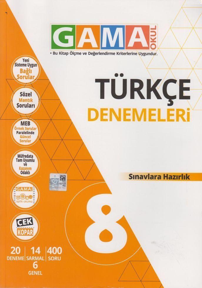 Gama Okul Yayınları 8. Sınıf Türkçe Denemeleri