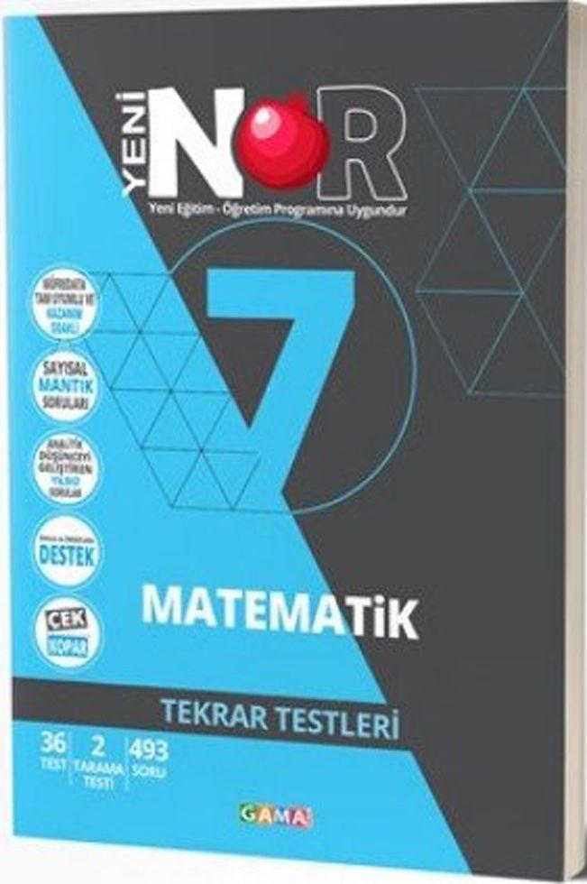 Gama Yayınları 7. Sınıf Matematik Nar Tekrar Testleri