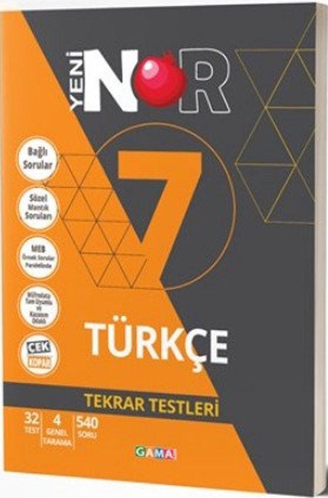 Gama Yayınları 7. Sınıf Türkçe Nar Tekrar Testleri