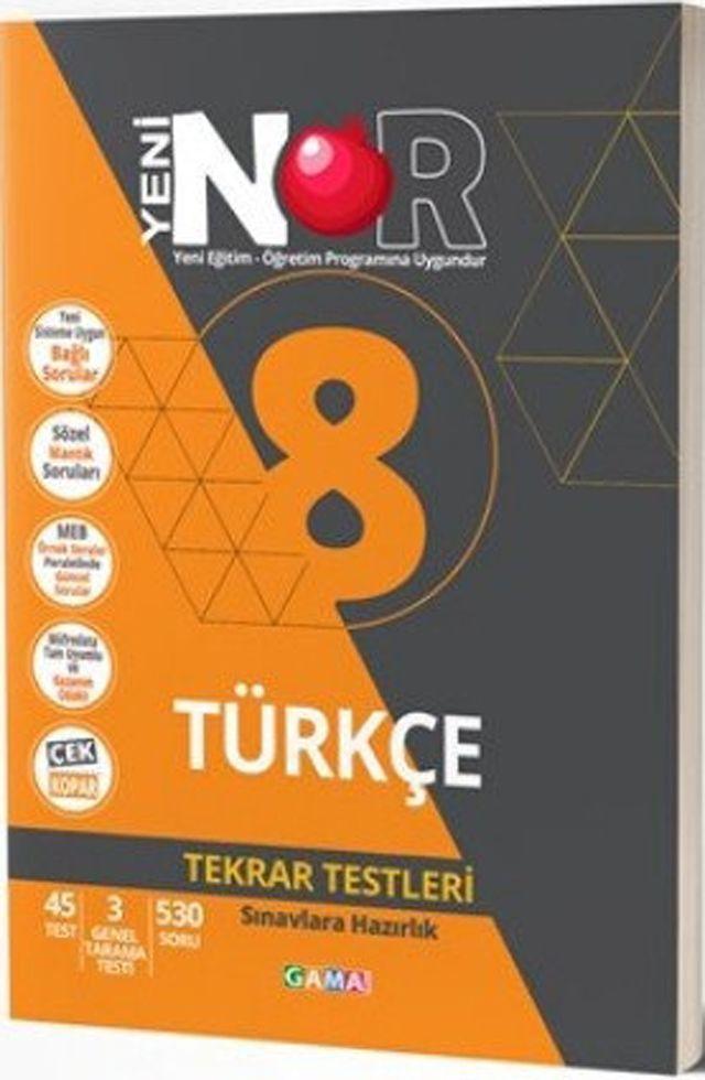 Gama Yayınları 8. Sınıf Türkçe Nar Tekrar Testleri